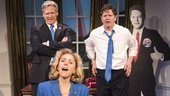 Kerry Butler as Hillary Clinton, Tom Galantich as WJ Clinton & Duke Lafoon as Billy Clinton in Clinton the Musical