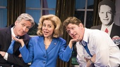 Tom Galantich as WJ Clinton, Kerry Butler as Hillary Clinton & Duke Lafoon as Billy Clinton in Clinton the Musical