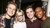 Hamilton - backstage - 9/15 - Jonathan Groff, Beth Behrs, Matt Doyle and Leslie Odom Jr
