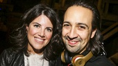 Hamilton - backstage - 9/15 - Monica Lewinksy and Lin-Manuel Miranda