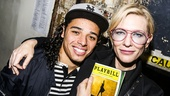 Hamilton - backstage - 9/15 - Anthony Ramos and Cate Blanchett