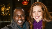 Noises Off - Show Photos - 1/16 - Joshua Henry and Cathryn Stringer